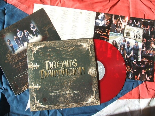 DREAMS OF DAMNIATION LP with all the parts